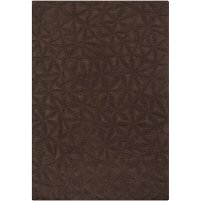 Celina Brown Solid Area Rug Rug Size: 53 x 77