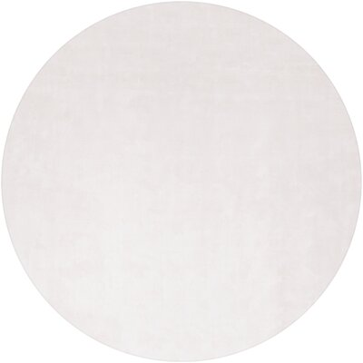 Mabel Hand Woven Wool White Area Rug Rug Size: Round 79