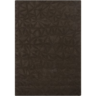 Celina Chocolate Solid Area Rug Rug Size: 5'3