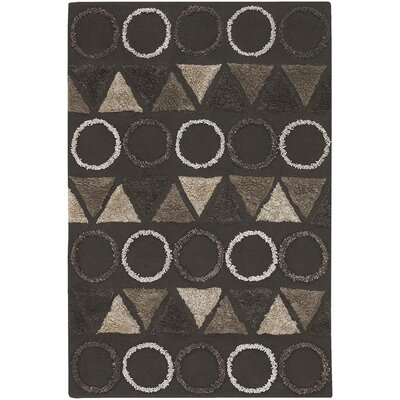Dublin Brown Area Rug Rug Size: 56 x 79