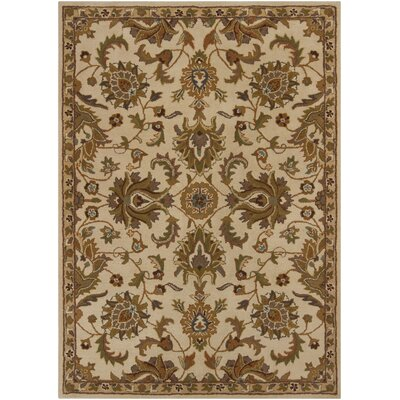 Cayman Hand Tufted Beige/Brown Area Rug Rug Size: 7 x 10