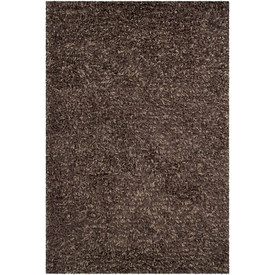 Angella Brown Solid Area Rug Rug Size: 79 x 106