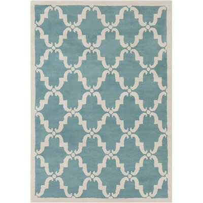 Thurman Moroccan Pattern Blue Area Rug Rug Size: 7 x 10