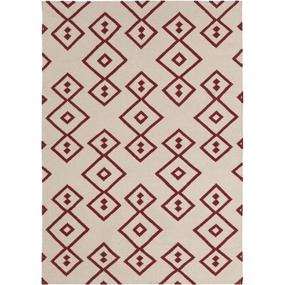 Abasi Red Geometric Rug Rug Size: 3 x 5