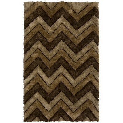 Mirari Brown/Tan Area Rug Rug Size: Rectangle 5 x 76