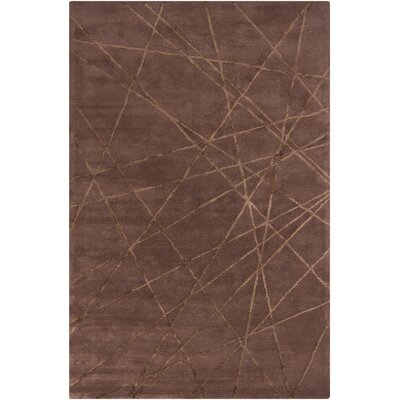 Harrow Brown Geometric Area Rug Rug Size: 5 x 8