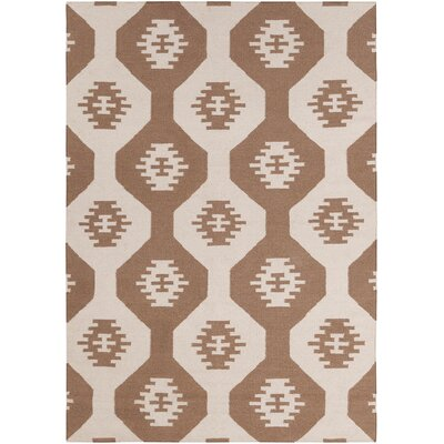 Lima Brown Abstract Rug Rug Size: 5' x 7'
