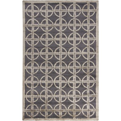 Harrow Grey Geometric Area Rug Rug Size: 5 x 8