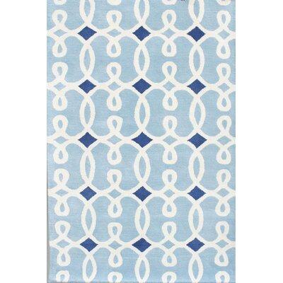 Davin Blue Geometric Rug Rug Size: 5 x 7