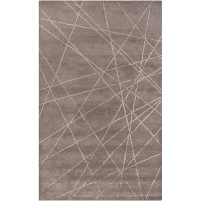 Lee-Yin Hand Tufted Brown Geometric Area Rug Rug Size: 5 x 8