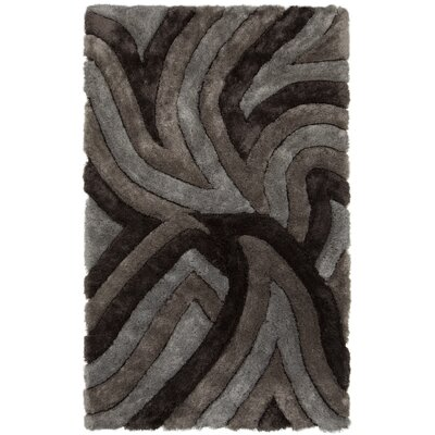 Filix Black/Gray Area Rug Rug Size: 79 x 106