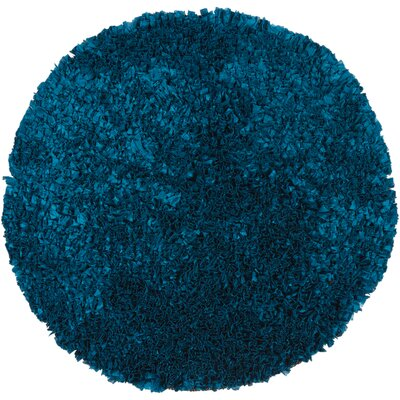 Proline Blue Area Rug Rug Size: Round 3