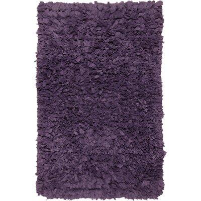 Paper Shag Purple Area Rug Rug Size: 18 x 26