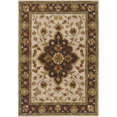 INT Beige/Brown Area Rug Rug Size: 5 x 7