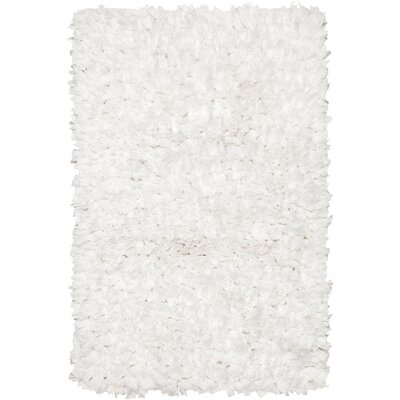 Paper Shag White Area Rug Rug Size: 18 x 26