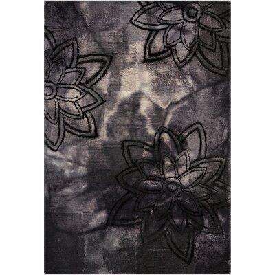 Mastrangelo Black Area Rug Rug Size: 5 x 76