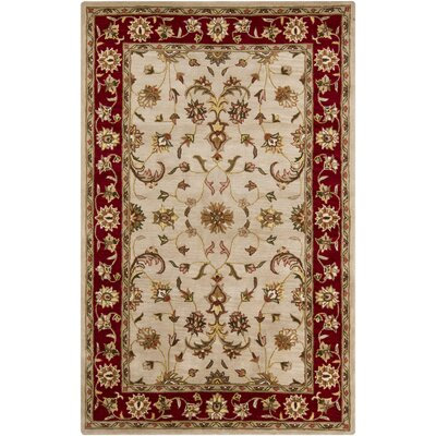 Beardmore Red/Beige Area Rug Rug Size: 5 x 8