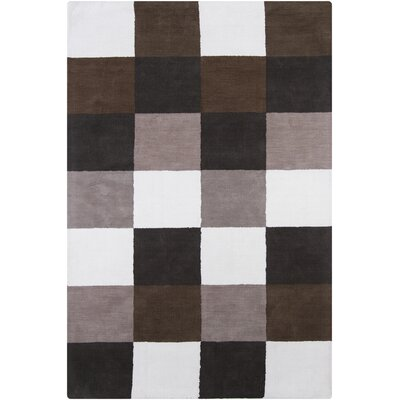 INT White Geometric Area Rug Rug Size: 4 x 6