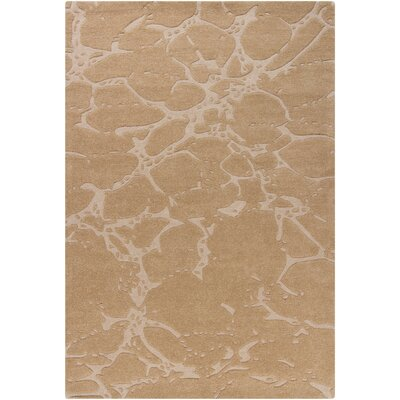 Kinsella Abstract Beige Area Rug Rug Size: 5 x 76