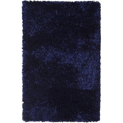 Banner Wool Blue Area Rug Rug Size: 36 x 56
