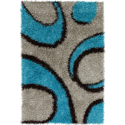 Stockwell Blue/Gray Area Rug Rug Size: 79 x 106