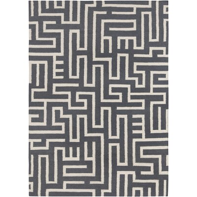 Zuniga Hand Woven Wool Gray Area Rug Rug Size: 3 x 5