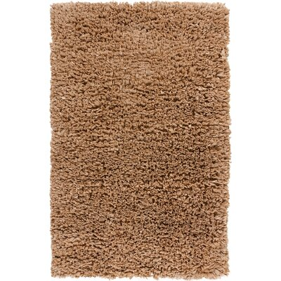 Paper Shag Tan Area Rug Rug Size: 36 x 56