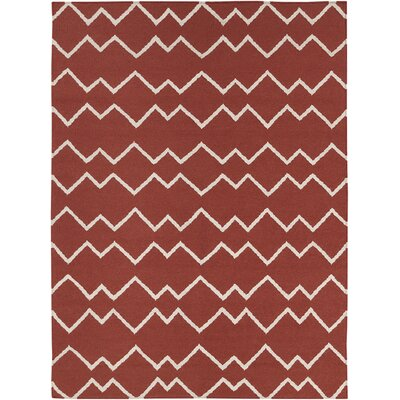 Jayson Red Rug Rug Size: 5 x 7