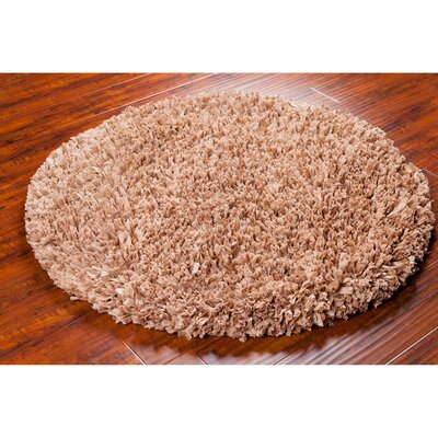 Paper Shag Tan Area Rug Rug Size: Round 4