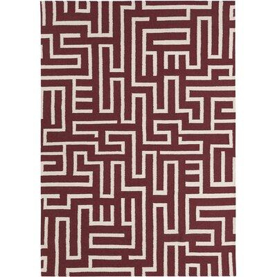 Casas Wool Geometric Rug Rug Size: 5 x 7