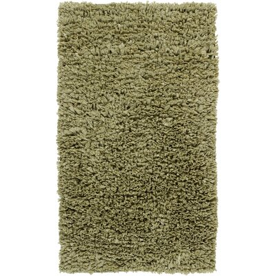 Paper Shag Green Rug Rug Size: 36 x 56