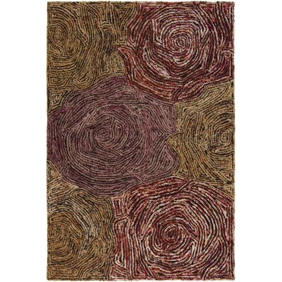 Twister Brown Abstract Area Rug Rug Size: 5 x 76