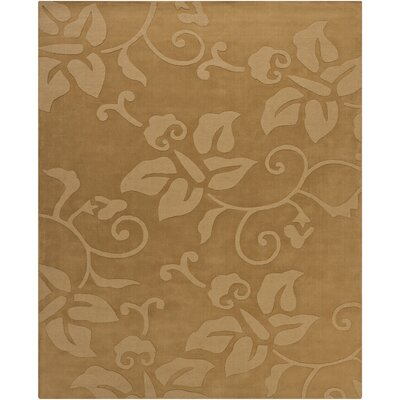 Ty Tan Floral Area Rug Rug Size: 6' x 9'