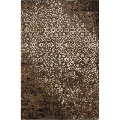 Powell Brown Abstract Area Rug Rug Size: 79 x 106