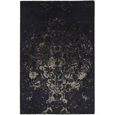Veleno Black Area Rug Rug Size: 5' x 7'6