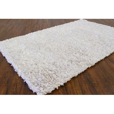 Banner White Area Rug Rug Size: 36 x 56