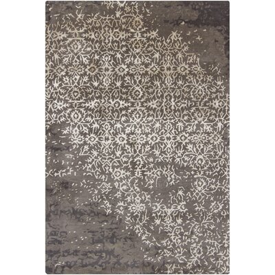 Powell Grey Abstract Area Rug Rug Size: 5 x 76