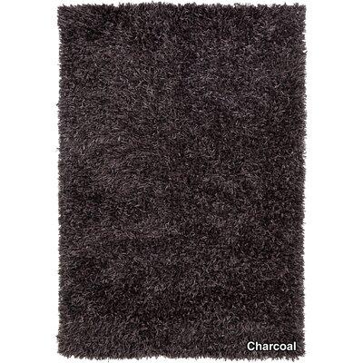 Sidney Black Area Rug Rug Size: 79 x 106