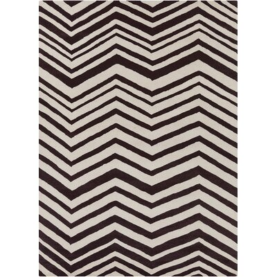 Davin Vibes Pattern Black/Ivory Area Rug Rug Size: 5 x 7