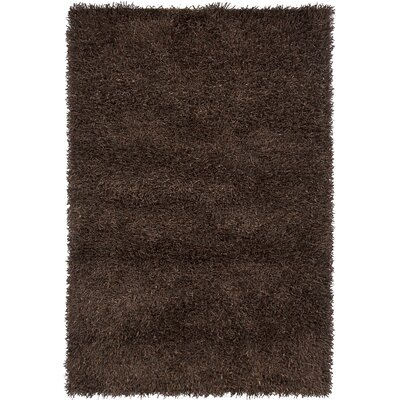 Arae Dark Brown Area Rug Rug Size: 79 x 106