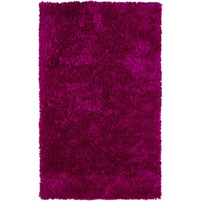 Banner Handmade Pink Area Rug Rug Size: 36 x 56