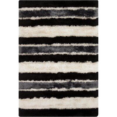 Fola Black/White Area Rug Rug Size: 5' x 7'6