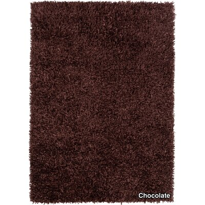 Vinoe Dark Brown Area Rug Rug Size: 79 x 106