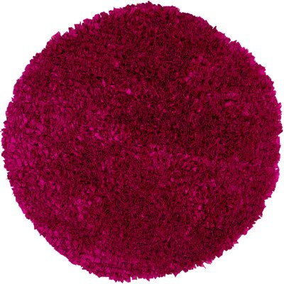 Banner Handmade Pink Area Rug Rug Size: Round 3