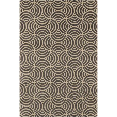 Estella Abstract Gray/Beige Area Rug Rug Size: 5 x 7