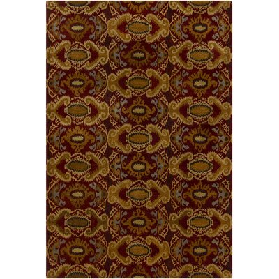 Dwell Brown/Red Abstract Area Rug Rug Size: 5 x 76