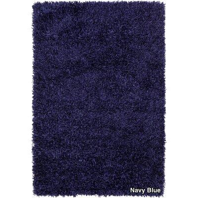 Vinoe Shag Blue Area Rug Rug Size: 79 x 106
