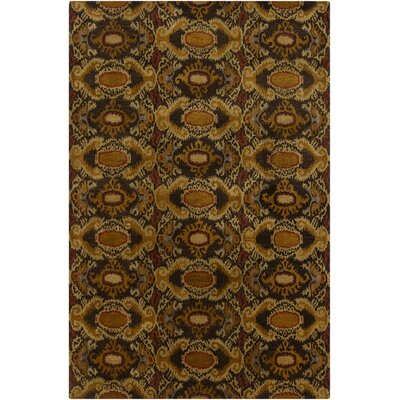 Tom Brown Abstract Area Rug Rug Size: 79 x 106