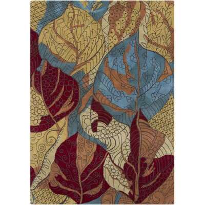Gagan Yellow Area Rug Rug Size: 5 x 7