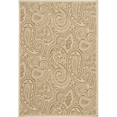 Ryan Beige Indoor/Outdoor Area Rug Rug Size: 5 x 8
